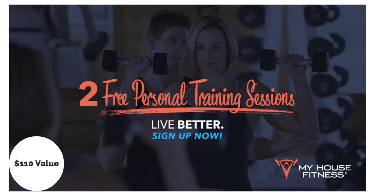 2 free personal training sessions, live better and get in shape